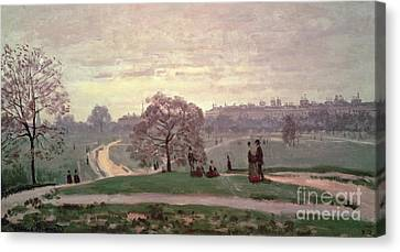 Hyde Park Canvas Print by Claude Monet