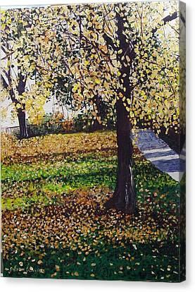 Hyde Park London Canvas Print by Sharon  De Vore