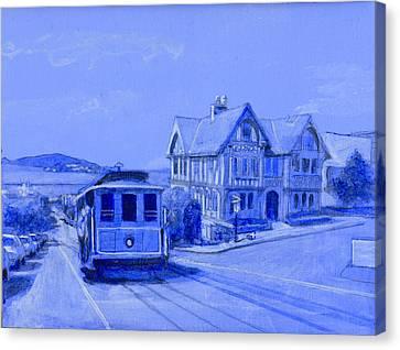 Alcatraz Canvas Print - Hyde Street by David Zimmerman