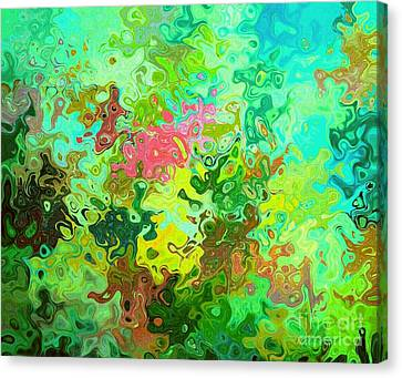 Abstract Water Flowers Canvas Print by ARTography by Pamela Smale Williams