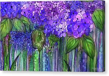 Hydrangea Bloomies 3 - Purple Canvas Print