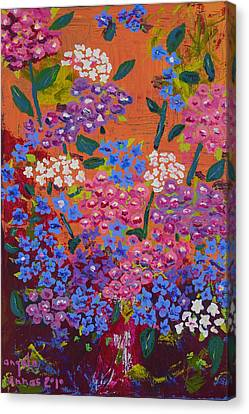 Hydrangea Collage Canvas Print by Angela Annas