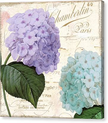 Hydrangea Hortensia Canvas Print by Mindy Sommers