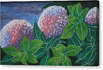 Canvas Print featuring the painting Hydrangea by Paul Amaranto