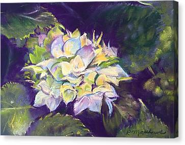 Canvas Print featuring the pastel Hydrangea by Rebecca Matthews