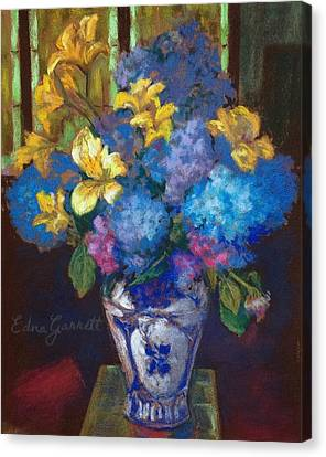 Hydrangeas And Daylilies Canvas Print
