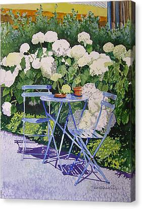 Hydrangeas At Angele Canvas Print by Gail Chandler