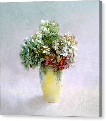 Canvas Print featuring the photograph Hydrangeas In Autumn Still Life by Louise Kumpf
