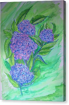 Hydrangea Canvas Print by Cathy Long