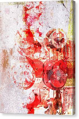 Hydrant Canvas Print by Dan Turner