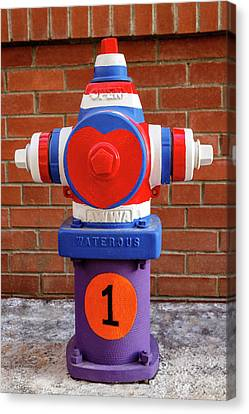 Canvas Print featuring the photograph Hydrant Number One by James Eddy