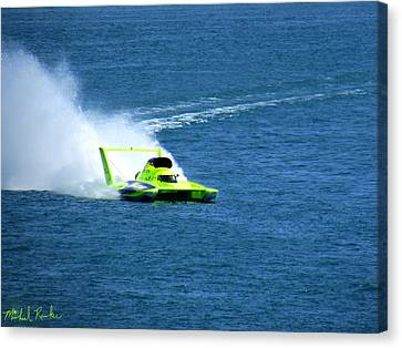 Hydroplane Boat Race Canvas Print by Michael Rucker