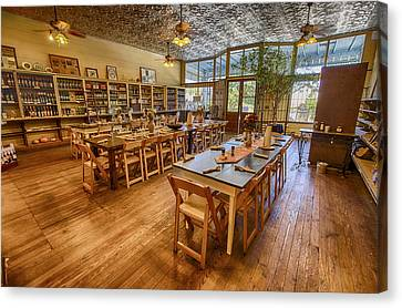 Canvas Print featuring the tapestry - textile Hye Market General Store by Kathy Adams Clark