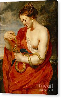Hygeia - Goddess Of Health Canvas Print by Peter Paul Rubens
