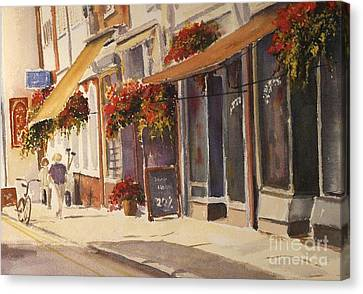 Canvas Print featuring the painting Hythe High Street by Beatrice Cloake