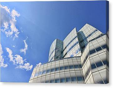 Canvas Print - I A C Building # 6 - Sculpture Or Building Or Both by Allen Beatty