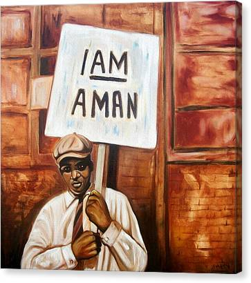 Canvas Print featuring the painting I Am A Man by Emery Franklin
