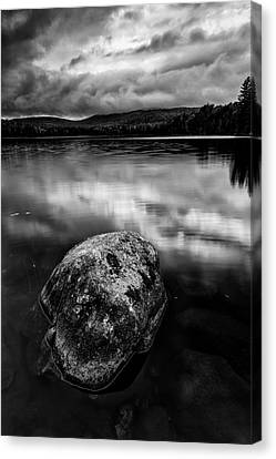 Canvas Print featuring the photograph I Am A Rock by Mike Lang