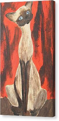 I Am A Siamese If You Please Canvas Print by Marsha Elliott