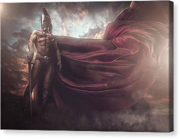 Canvas Print - I Am A Warrior by Marcin and Dawid Witukiewicz