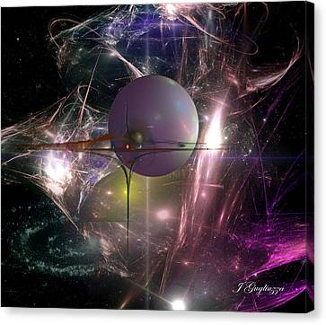 I Am Alpha Omega Canvas Print by Jean Gugliuzza