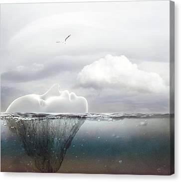 I Am An Island Canvas Print by Jacky Gerritsen