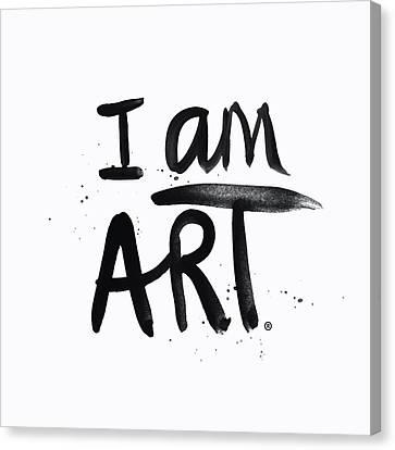 I Am Art Black Ink - Art By Linda Woods Canvas Print