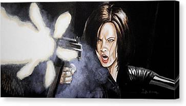 I Am Death Dealer Canvas Print by Al  Molina