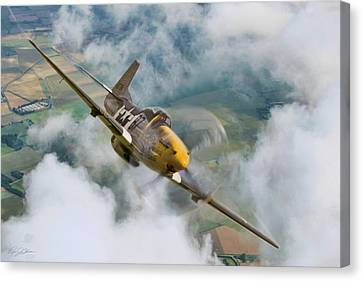 Vintage Air Planes Canvas Print - I Am Legend P-51 by Peter Chilelli