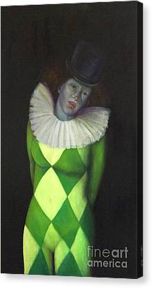 Canvas Print featuring the painting I Am by Marlene Book