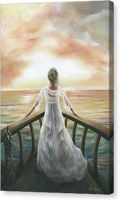 I Am Sailing Canvas Print - I Am Not Aftraid by Pennie Strople