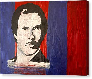 I Am Ron Burgundy Canvas Print by April Harker