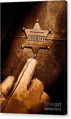 I Am The Law - Sepia Canvas Print
