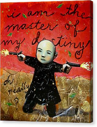 Gun Canvas Print - I Am The Master Of My Destiny by Pauline Lim