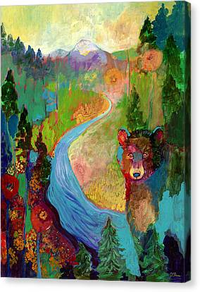 Abstract Wildlife Canvas Print - I Am The Mountain Stream by Jennifer Lommers