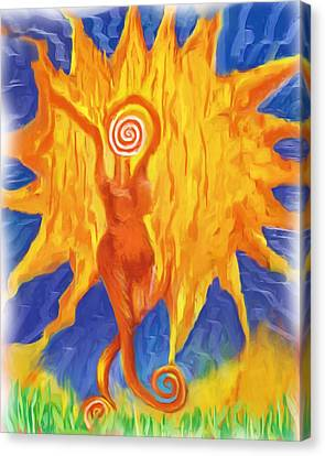 Canvas Print featuring the painting I Am The Sun by Shelley Bain