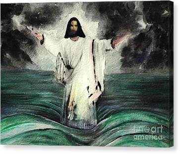 I Am Will Calm Your Sea Canvas Print