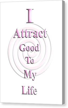 I Attract Pink Canvas Print