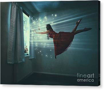 I Believe I Can Fly Canvas Print by Amanda Elwell