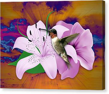 Canvas Print featuring the mixed media I Believe I Can Fly by Marvin Blaine