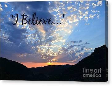I Believe Canvas Print by Sharon Soberon