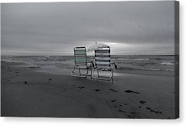 Topsail Island Canvas Print - I Brought A Chair For You by Betsy Knapp
