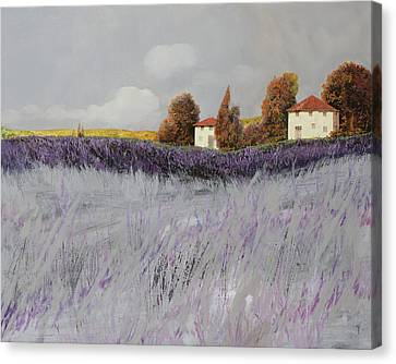 I Campi Di Lavanda Canvas Print by Guido Borelli