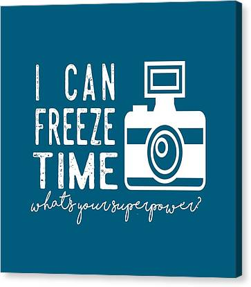 Canvas Print featuring the photograph I Can Freeze Time by Heather Applegate