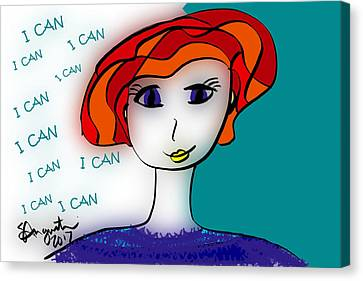I Can Canvas Print by Sharon Augustin