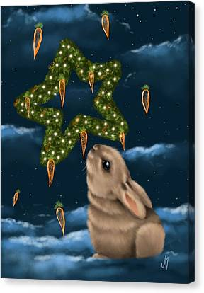 I Can Smell The Christmas In The Air Canvas Print by Veronica Minozzi