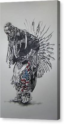 I Close My Eyes And Hear The Songs Of My Ancestors Canvas Print by Michael Lee Summers