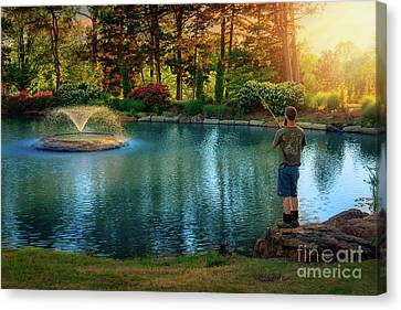 I Could Be Fishing Canvas Print