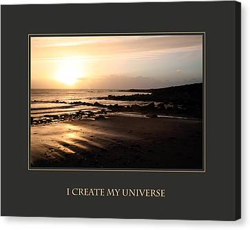 I Create My Universe Canvas Print by Donna Corless