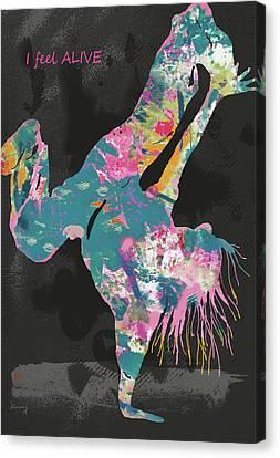 I Feel Alive - Hip Hop Street Dancing Art Poster   Canvas Print